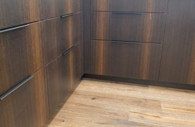 Modern Oak & High Gloss Kitchen Cabinets - Modern Transitional - Straw Woodwork Gainesville Florida