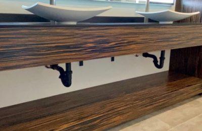 Custom Ebony Vanity Gainesville Florida Straw Custom Wood Work