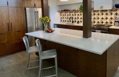 Mid-century Wlnut Custom Kitchen Cabinets - Gainesville Florida Straw & Co Custom Wood Work