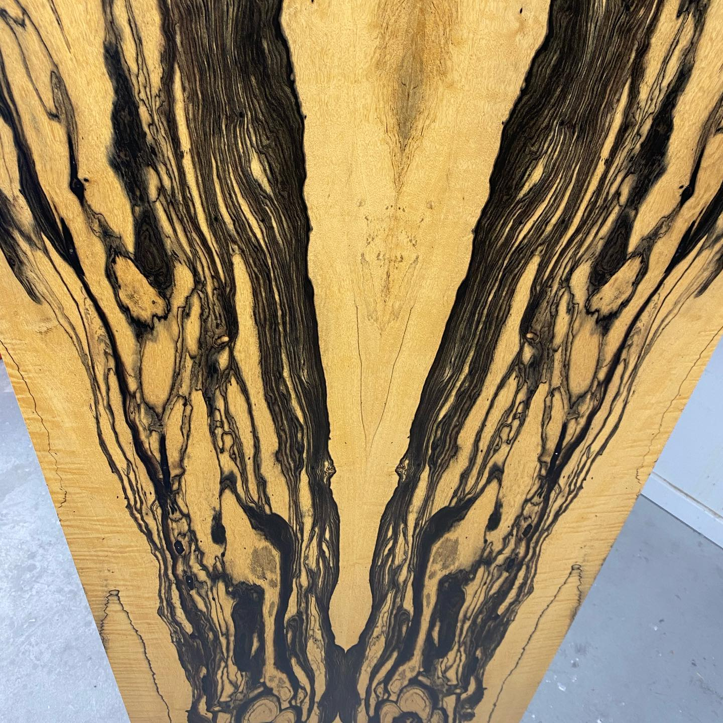 Royal ebony, walnut vanity cabinet and door detail, walnut burl, and some misc parts being finished.