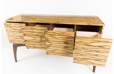 Custom Wood Record Cabinets by Straw & Co