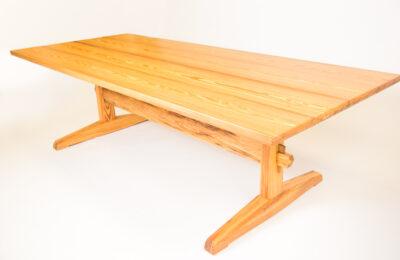 Heart-Pine-trestle-Table-maker