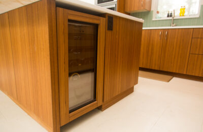 teak-flat-panel-kitchen-cabinets