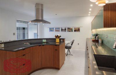 round radius custom kitchen cabinets