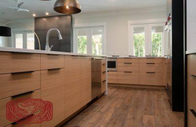 custom white oak modern cabinets florida