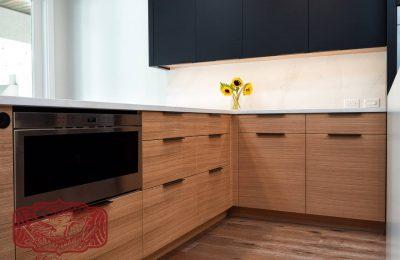 modern custom white oak cabinets